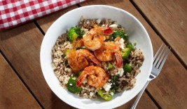 Passionfruit Citrus Ubowl w Grilled Shrimp