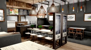 Trendy Fast-Casual Layout